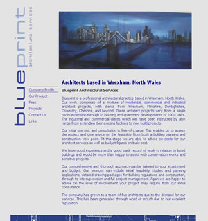 Web design stoke - portfolio - Blueprint Architectural website