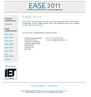 Web design stoke - portfolio - EASE Conference website