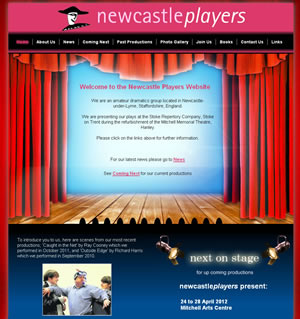 Web design stoke - portfolio - Newcastle Players website