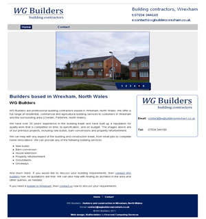 Web design stoke - portfolio - WG Builders Wrexham website