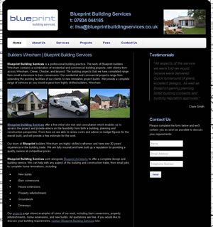 Website design stoke - portfolio - Builders Wrexham